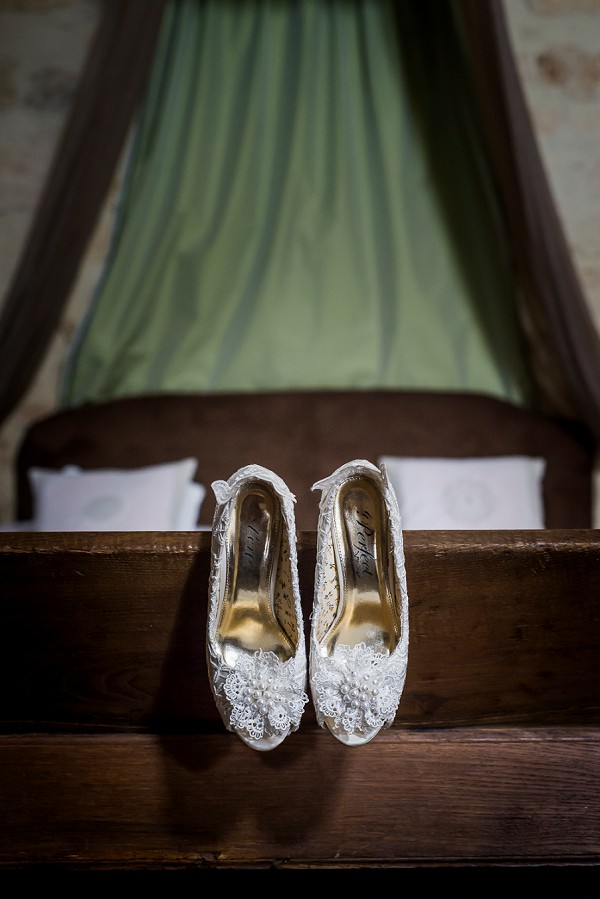 Lace wedding shoes