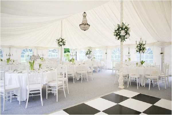 Marquee chic wedding flowers