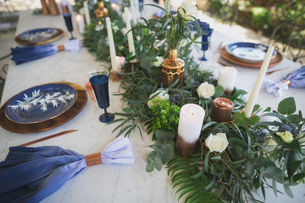 Something blue wedding table