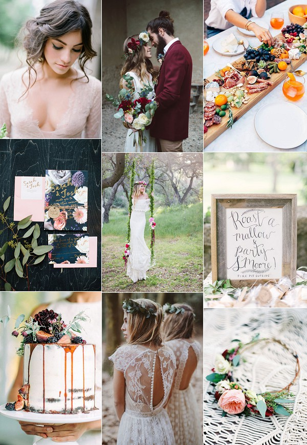 Bohemian French Wedding Inspiration Board