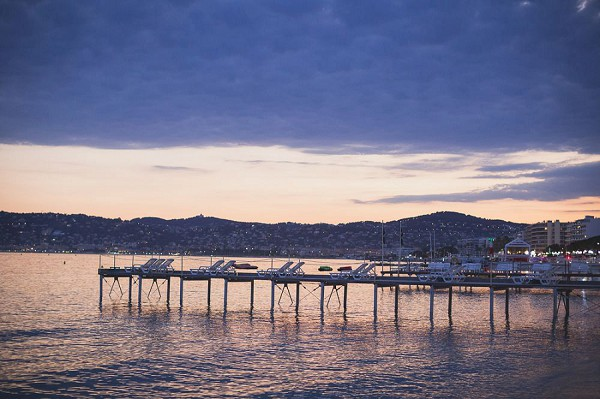 French Riviera Evening Engagement Session