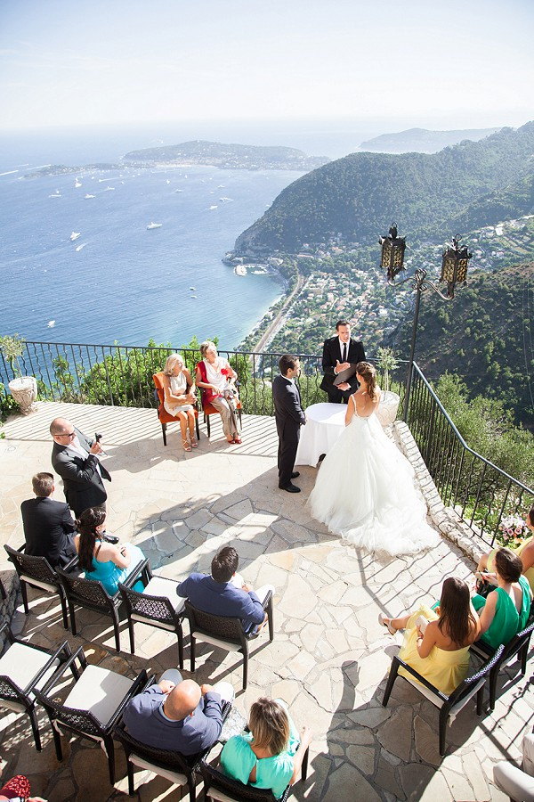 Hill top wedding ceremony
