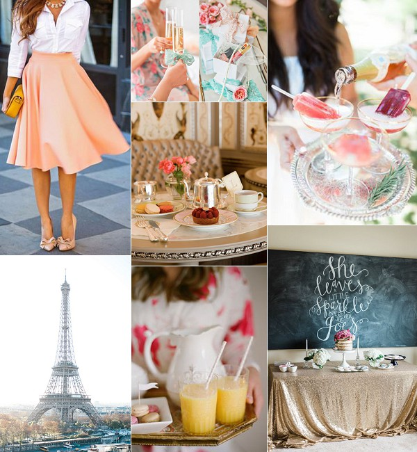 How To Create A French Styled Hen Do Inspiration Board