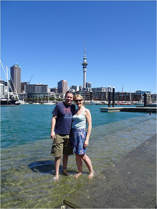 Mat and Holle in Auckland