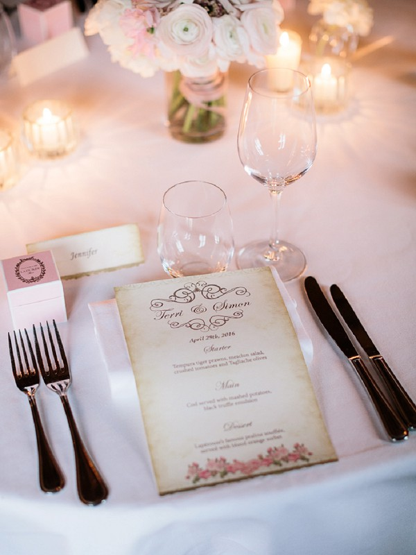 Romantic style wedding stationary