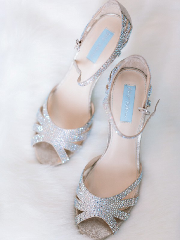 Sparkle wedding shoes