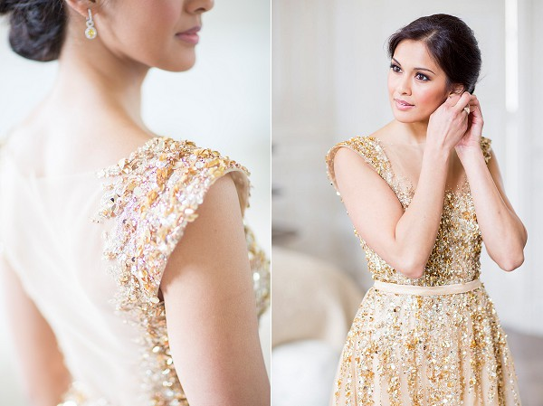 Stunning gold wedding dress