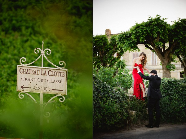 Chateau La Clotte Engagement Shoot