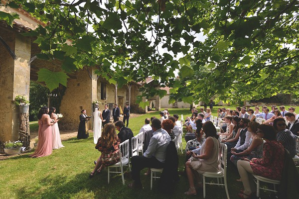 Countryside wedding ceremony