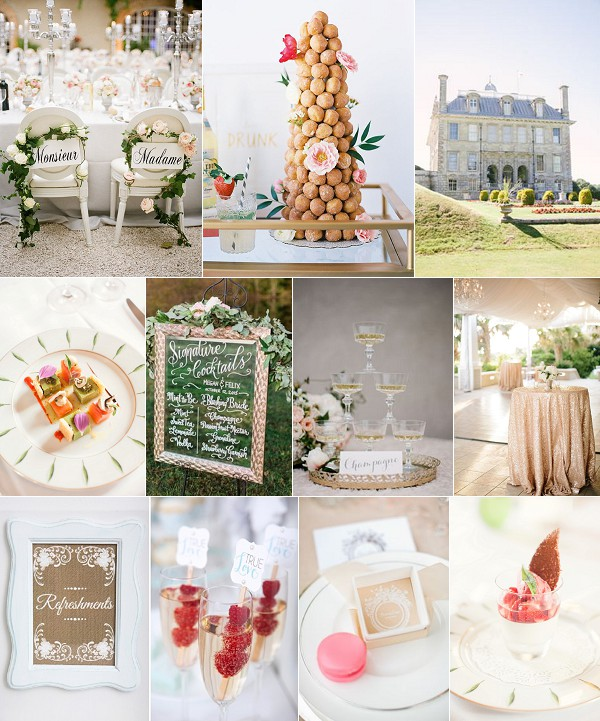 Modern French Wedding Inspiration Board