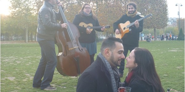 Musical Surprise Proposal in Paris