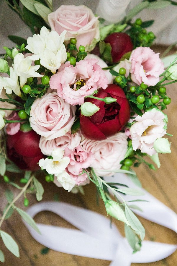 Pink Fine Art Wedding Bouquet