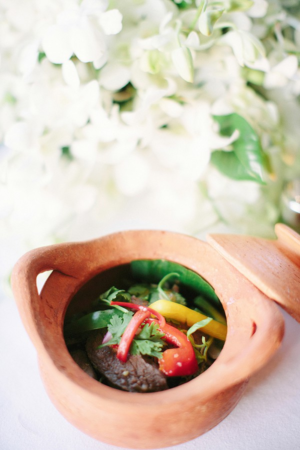 Thai inspired wedding food