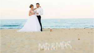 beach wedding South of France