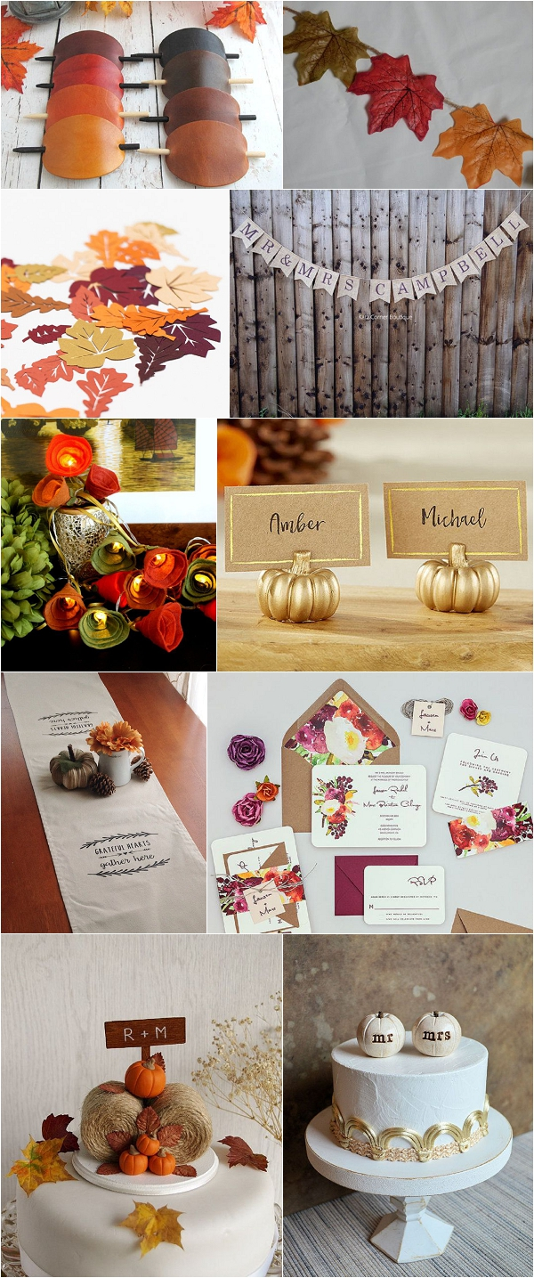 Autumn Wedding Ideas via Etsy