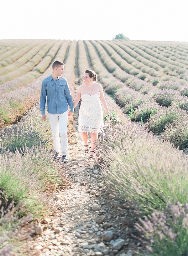 Lavender Field Anniversary Session