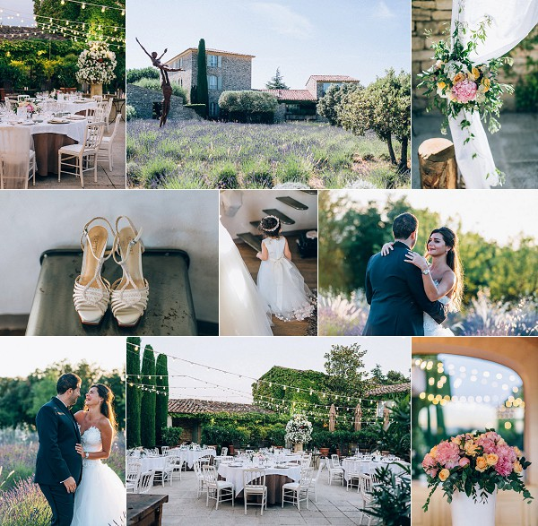 lavender inspired bastide de capelongue wedding snapshot