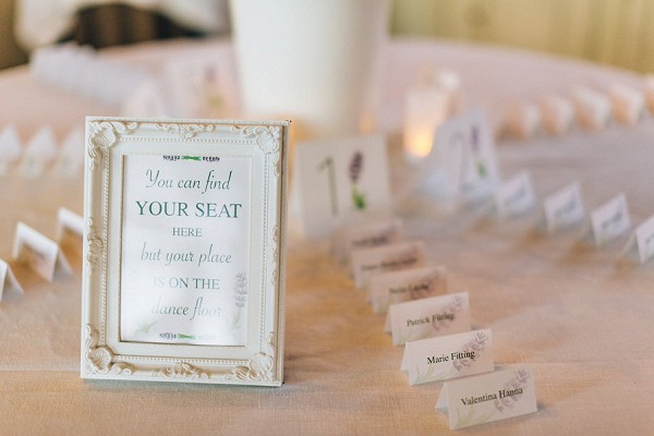 lavender inspired table plan