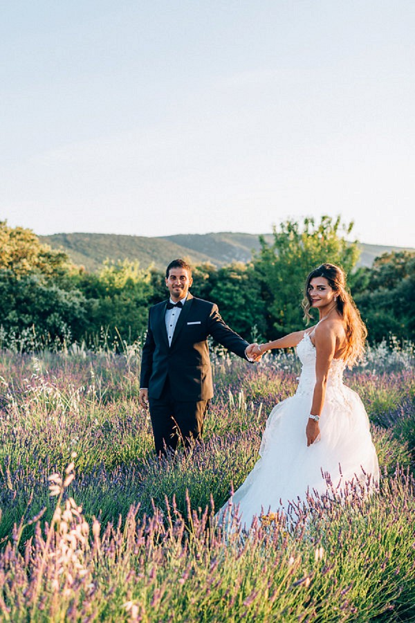 lavender wedding portraits