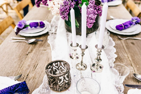 Mismatched wedding decor