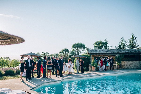 provence wedding pool party