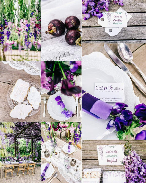 Romantic Wisteria Inspired Wedding Styled Shoot Snapshot