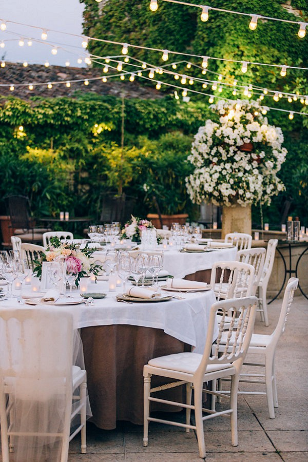 stylish wedding reception provence
