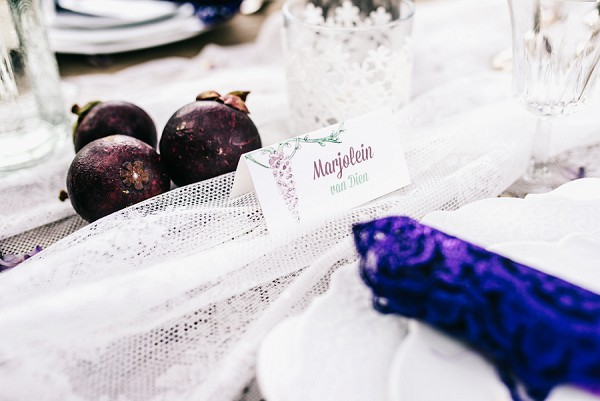 Wisteria Inspired place settings