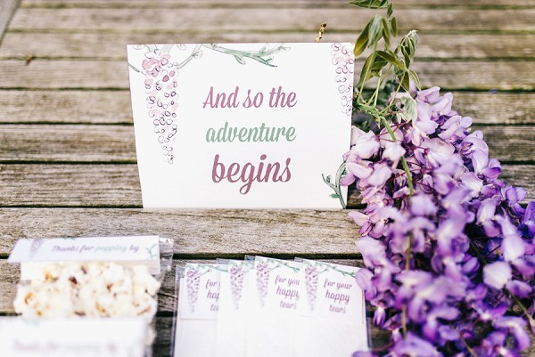 Wisteria Inspired wedding stationary