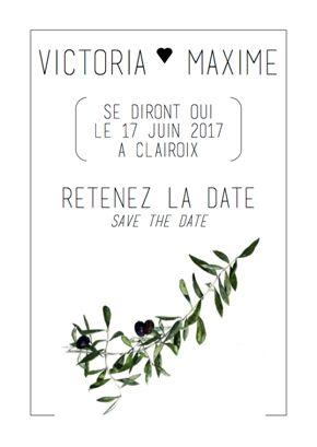 olive brand wedding invite