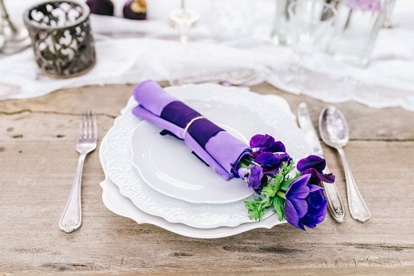 purple wedding colour scheme