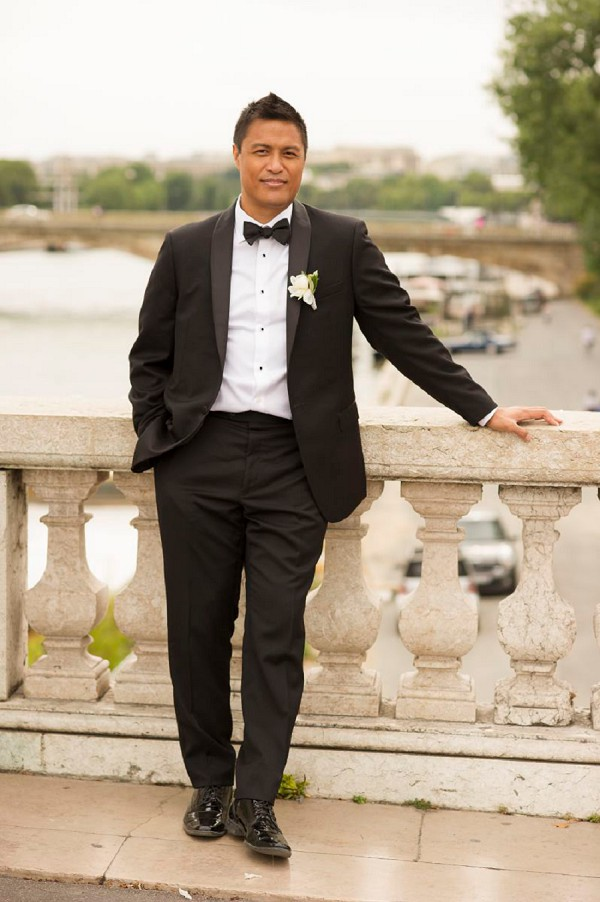 Black tie Paris groom