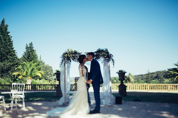 Chateau outdoor wedding