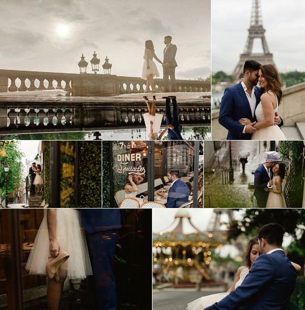 Idyllic Rainy Engagement Shoot in Paris