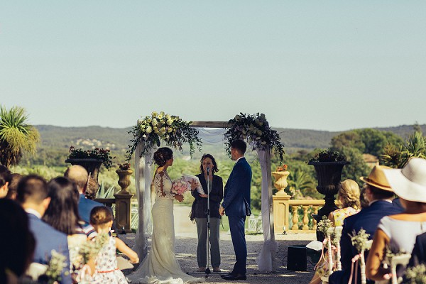 Outdoor Provence wedding ceremony