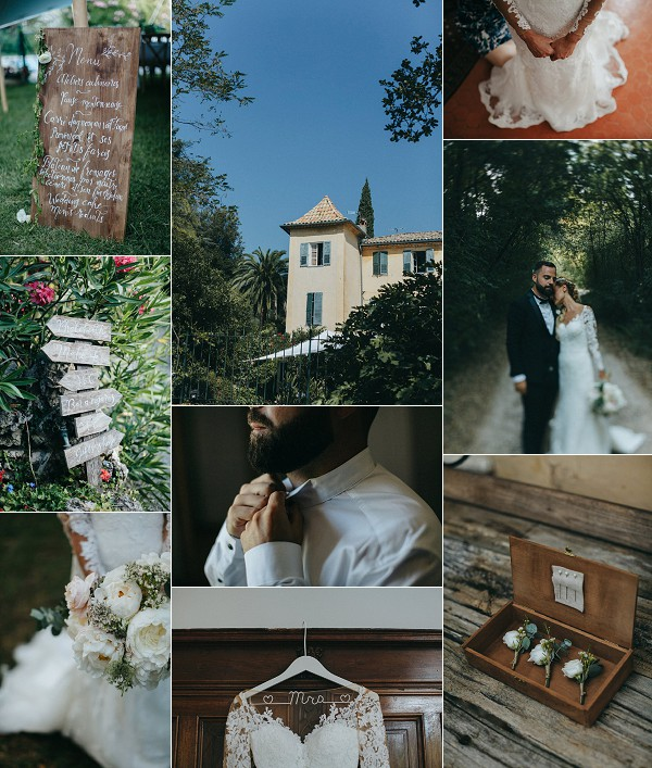 Rustic French Riviera Real Wedding Snapshot