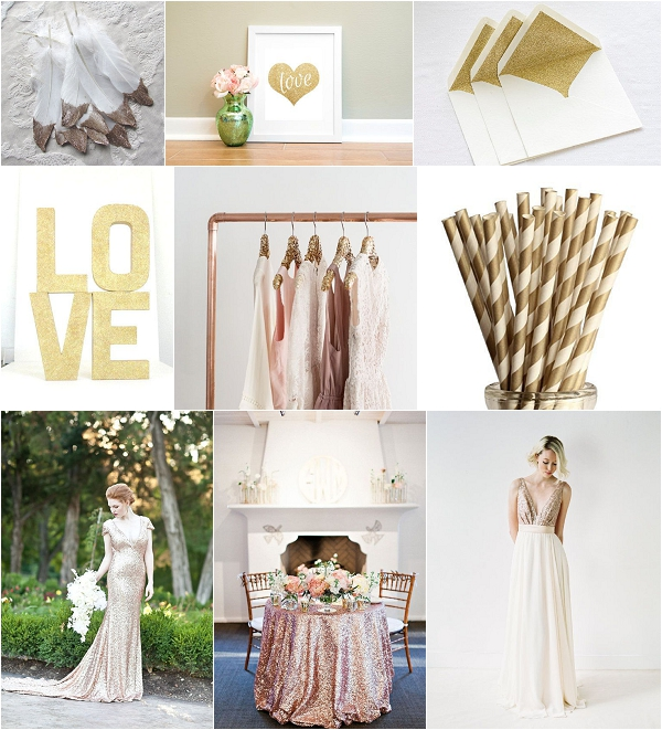 Sparkle Gold Etsy Wedding Ideas