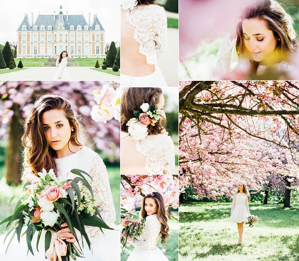 Springtime Cherry Blossom Bridal Shoot In Paris Snapshot