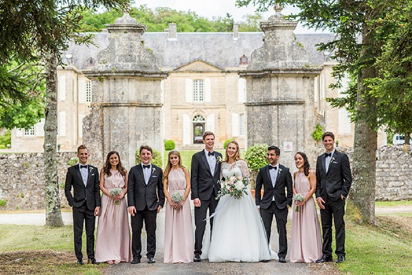 bridal party group picture