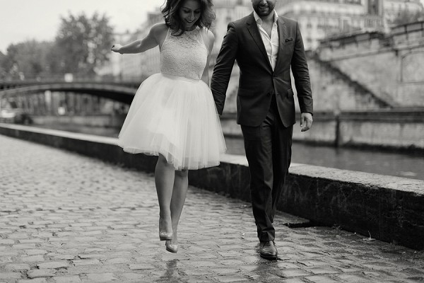 sweet Paris engagement