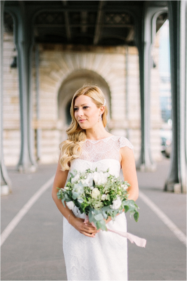 Anna Campbell Wedding Dress Paris | Image by Maya Maréchal Photography
