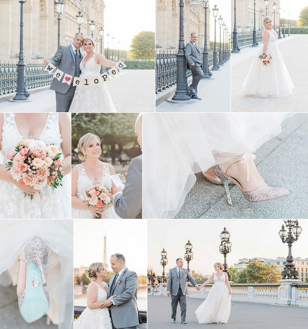 Doreen and Jaysons Sweet Paris Elopement Snapshot
