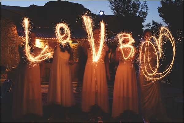 LOVE wedding sparkler photography | Image by Awardweddings