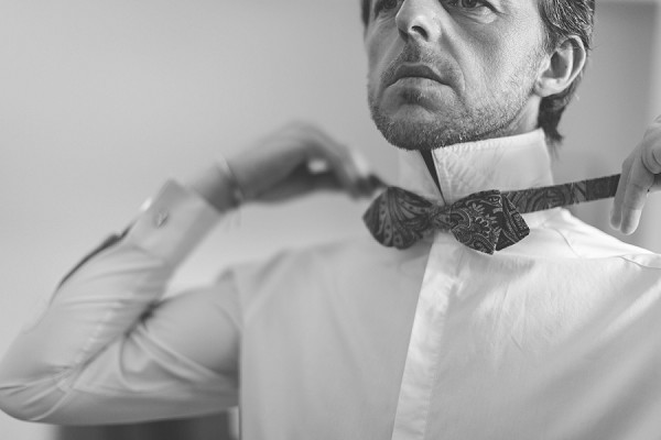 Luxury bow tie wedding