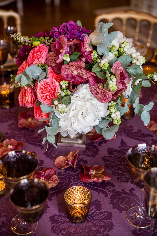 Opulent table centerpiece