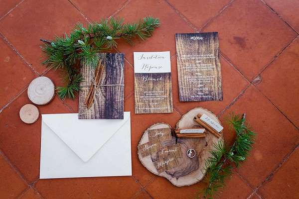 Rustic invite suite
