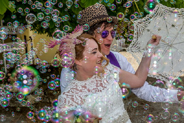 Wedding bubble machine