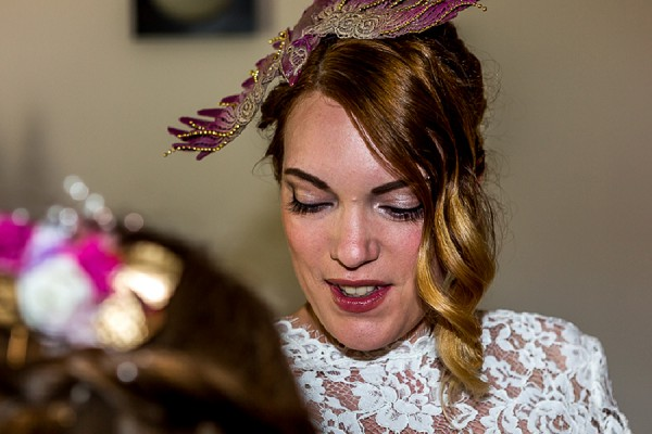 bird head piece wedding