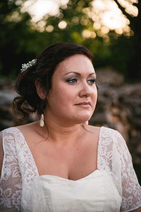 bridal portrait rustic wedding