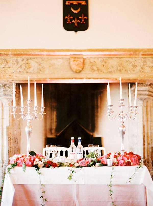 elegant chateau wedding details